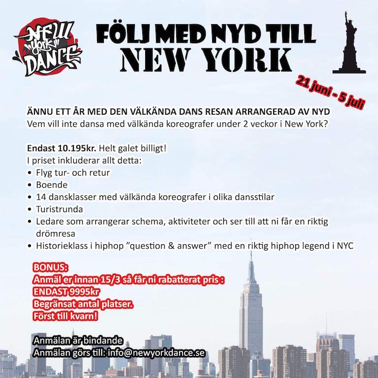 Följ med NYD till New York
